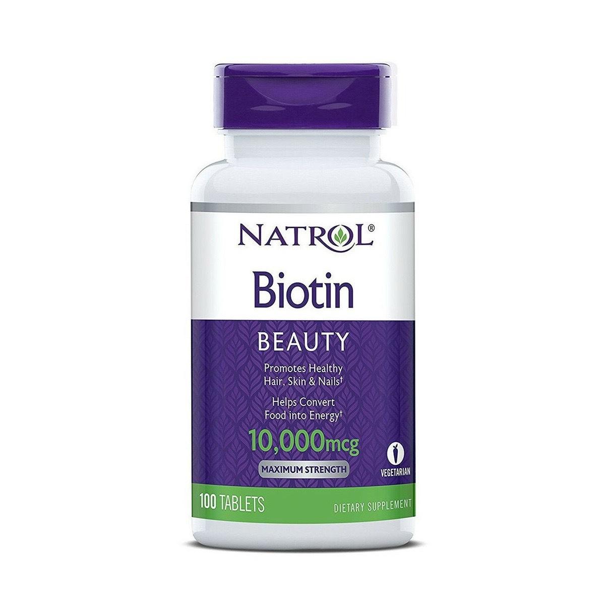 Viên uống Natrol Biotin ngăn rụng tóc - Us Home