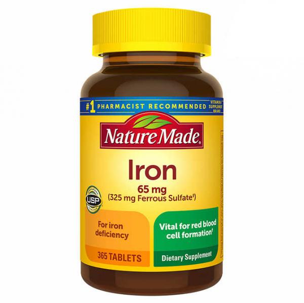 Viên uống hỗ trợ bổ sung sắt Nature Made Iron 65mg - Us Home