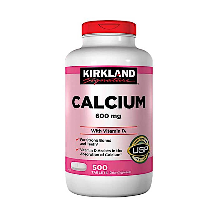 Viên uống Canxi Kirkland Signature Calcium 600Mg With Vitamin D3 - Us Home