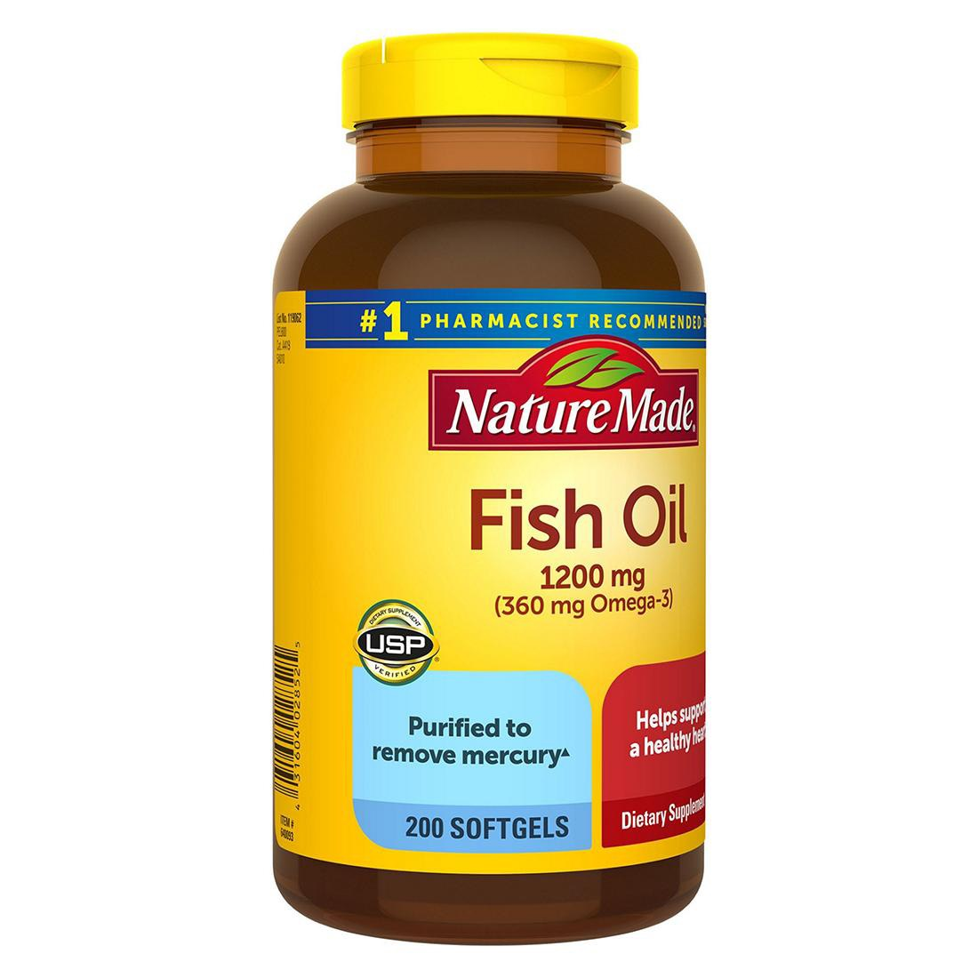 Dầu cá Nature Made Fish Oil - Us Home