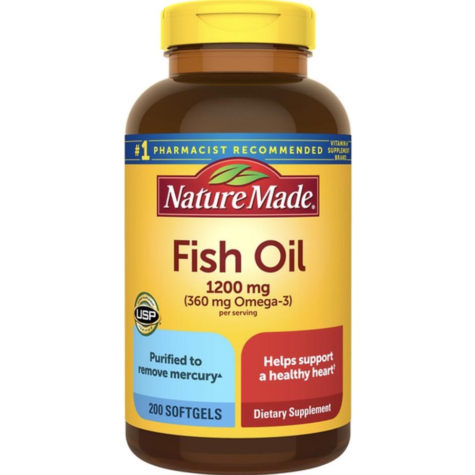Viên uống dầu cá Nature Made Fish Oil 1200mg - Us Home